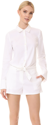 Theory Ranay Romper $375 thestylecure.com