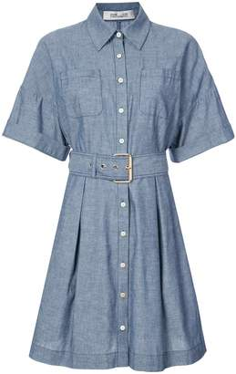Diane von Furstenberg belted chambray dress