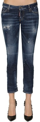 DSQUARED2 Jennifer Cropped Destroyed Skinny Jeans