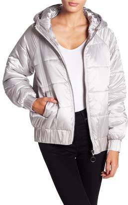MinkPink Hooded Puffa Jacket