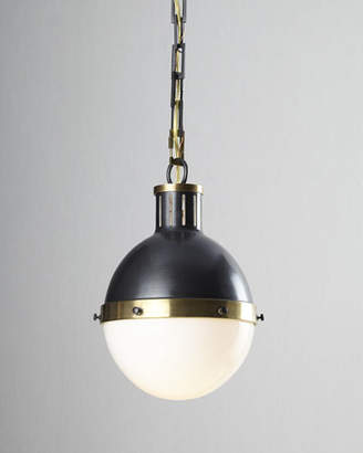 Visual Comfort Hicks 2-Light Large Bronze with Antiqued Brass Pendant