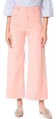 Emerson Thorpe Ryan High Waisted Wide Leg Pants $275 thestylecure.com