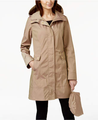 Cole Haan Packable Hooded Raincoat $180 thestylecure.com