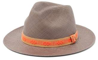 Yosuzi Elias Woven Straw Hat - Mens - Orange