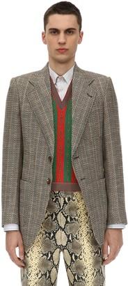 Gucci Retro Wool Blend Tweed Jacket
