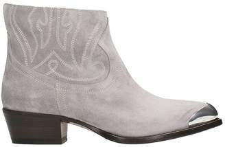 Buttero Gray Suede Ankle Boot