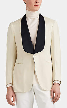 P. Johnson Men's Silk Hopsack One-Button Dinner Jacket - Cream