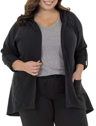 Fruit of the Loom Fit for Me by Women's Plus-Size Active Hoodie Cardigan