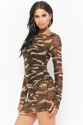 Forever 21 Sheer Mesh Mini Dress