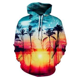 Hunter Little Plus Size Unisex 3D Digital Print Galaxy Pullover Hoodies Pockets Sweatshirt