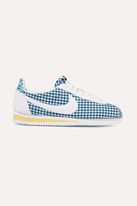 Nike Classic Cortez Gingham Canvas Sneakers - Azure