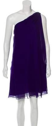 Halston Asymmetrical Silk Swing Dress w/ Tags