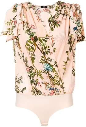 Elisabetta Franchi floral print bodysuit