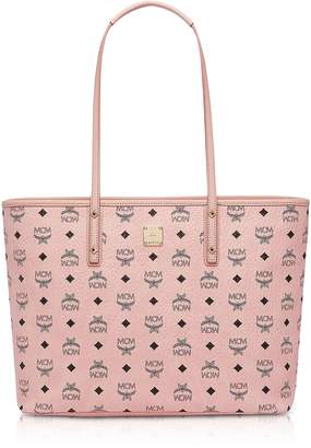 MCM Anya Soft Pink Top Zip Medium Shopping Bag