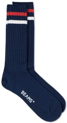 Beams Schoolboy Stripe Sock