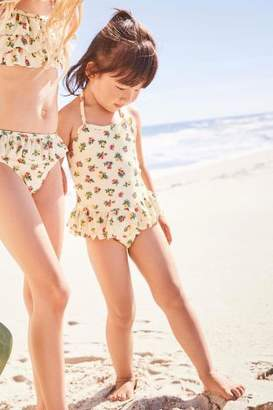 Next Girls Cream Floral Swimsuit (3mths-6yrs)