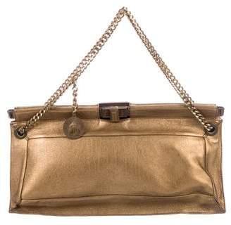 Lanvin Metallic Leather Handle Bag