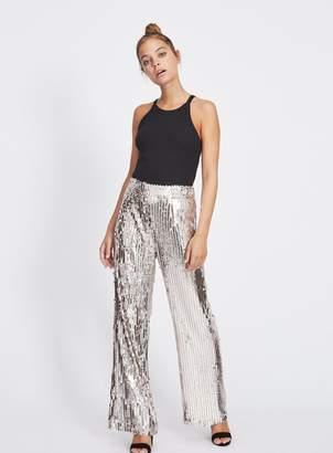 Miss Selfridge PETITE Silver Sequin Trousers
