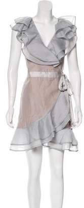 For Love & Lemons Ruffle Wrap Dress w/ Tags