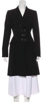 Alaà ̄a Double Breasted Wool Coat Black Alaà ̄a Double Breasted Wool Coat