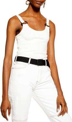 Topshop Buckle Rib Cropped Camisole