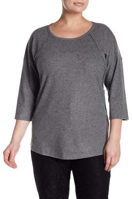 Planet Gold Brushed Knit Pullover Sweater (Plus Size)
