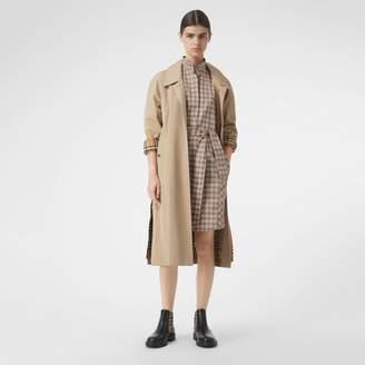 Burberry Check Cotton Tie-waist Shirt Dress , Size: 08