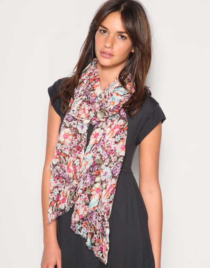 ASOS Light Weight Floral Painting Print Scarf