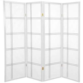Oriental Furniture 5-Feet Cross Hatch Japanese Shoji Privacy Screen Room Divider