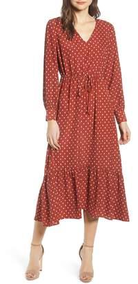 ALL IN FAVOR Polka Dot Maxi Dress
