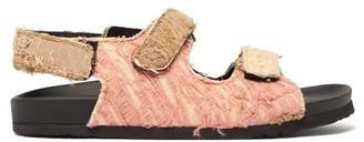 By Walid Felix 19th Century Lame Sandals - Womens - Khaki Multi