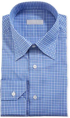 Stefano Ricci Men's Small-Check Dress Shirt