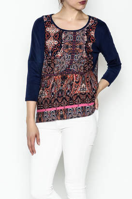 Tyche Indian Floral Top