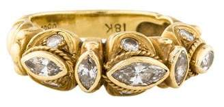 Ring 18K Sculpted Diamond Band