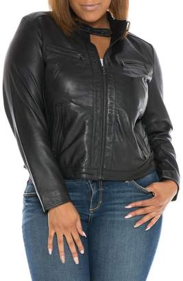 Moto SLINK Jeans Fitted Leather Jacket