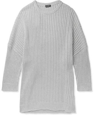 Raf Simons Oversized Cutout Metallic Knitted Sweater - Men - White