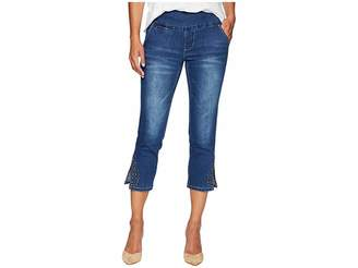 Jag Jeans Petite Petite Naomi Pull-On Crop w/ Studs in Kodiak Blue Women's Jeans