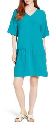 Eileen Fisher Drop Waist Tencel(R) Lyocell Blend Dress (Regular & Petite)