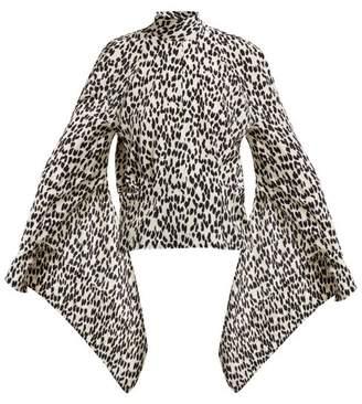 Petar Petrov Belva Leopard Print Silk Blouse - Womens - Leopard