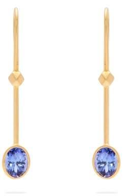 Jade Jagger 18kt Gold & Tanzanite Earrings - Womens - Blue