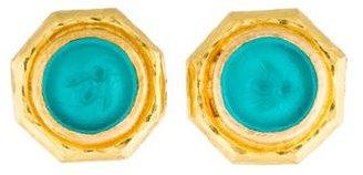 Elizabeth Locke 19K Tiny Bee Venetian Intaglio Stud Earrings $1,375 thestylecure.com
