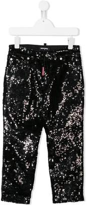 DSQUARED2 sequin embellished trousers