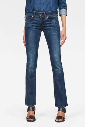 G Star Womens G-Star Dark Wash Midge Saddle Skinny Bootcut Jean - Blue