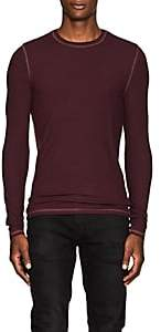 ATM Anthony Thomas Melillo MEN'S RIB-KNIT T-SHIRT - MD. RED SIZE XL
