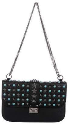 Valentino Small Star-Studded Lock Flap Bag w/ Tags