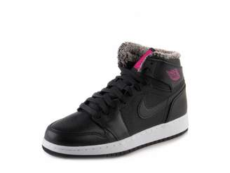Jordan Nike Kids Air 1 Retro High GG Black/Deadly Pink White Basketball Shoe 7 Kids US