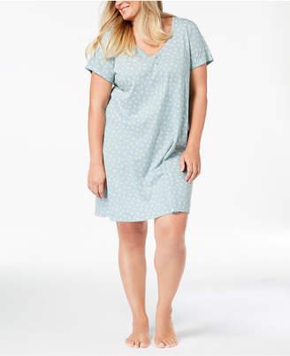 Charter Club Plus Size Printed Sleepshirt, Created for Macy's