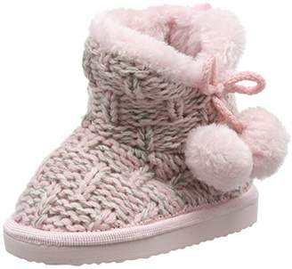 Pumpkin Patch Girls Knitted Winter Warmer Boot Slippers,15 UK 34 EU