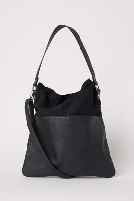 H&M Shopper with Shoulder Strap - Black