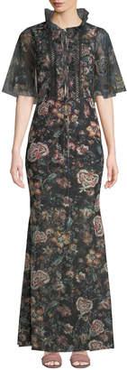 Sachin + Babi Tillie Floral-Print Chiffon Maxi Dress